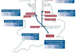 Map of proposed HS2 route