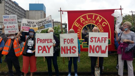 Proper pay for NHS staff