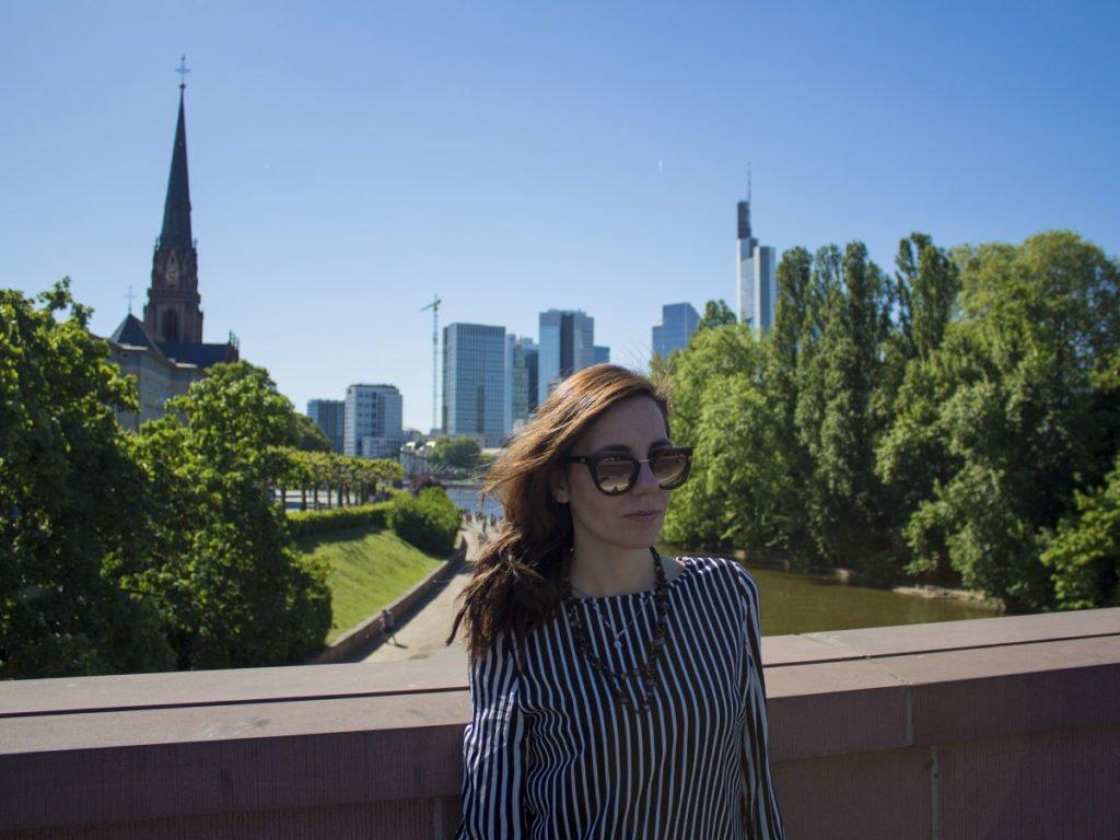 Panorama Francoforte-Francoforte-Meno-Frankfurt-Germania-Germany-Europa