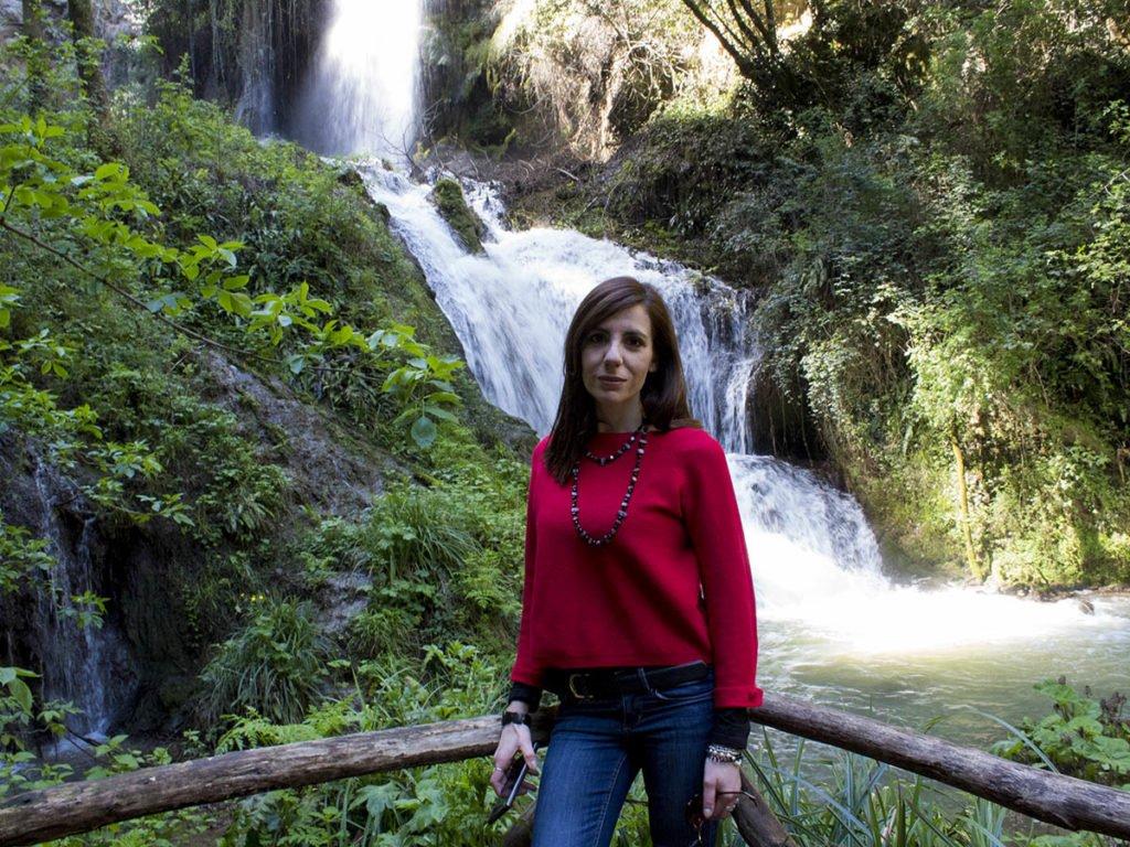 Parco di villa gregoriana-cascata naturale-Tivoli-Lazio-Italia-Europa