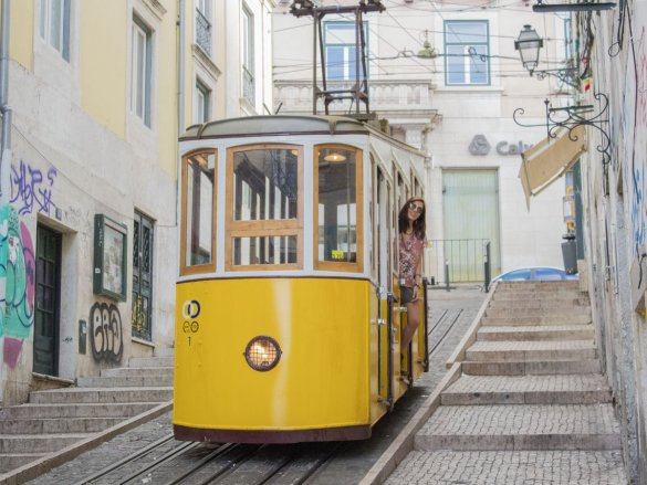 tram lisbona-bairro alto-Lisbona-lisbon-Portogallo-Europe-Europa