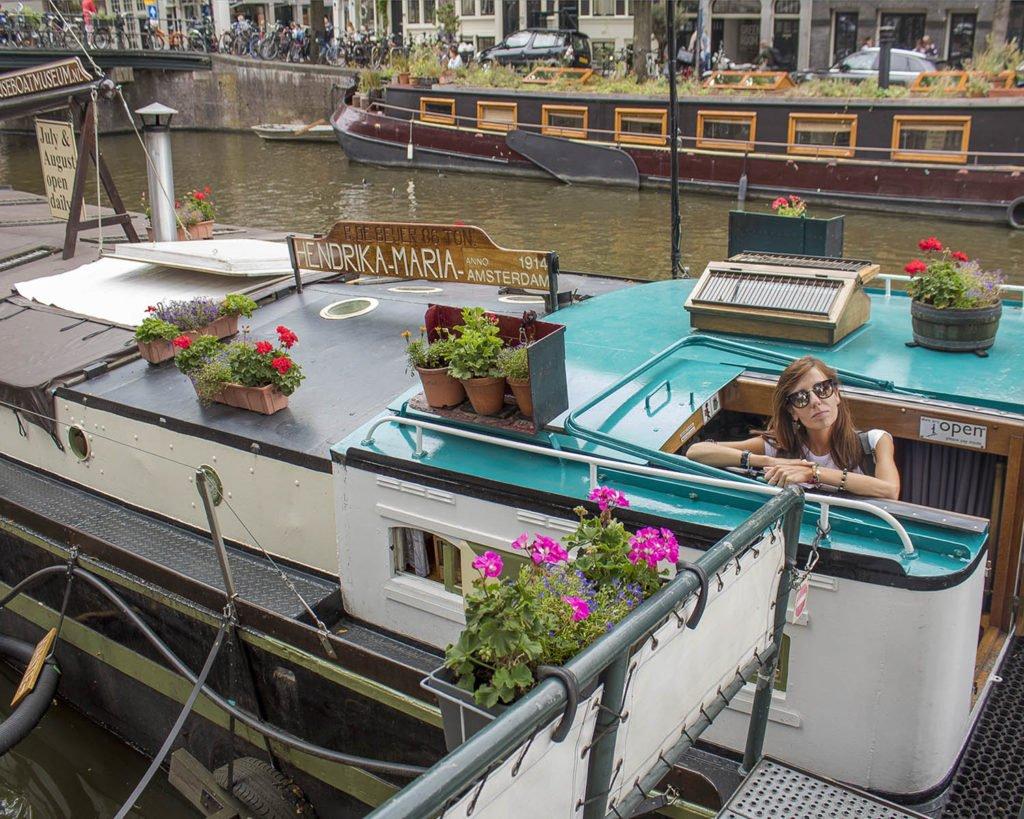 Houseboat museum-casa galleggiante Amsterdam-Amsterdam-Olanda-Holland-Netherlands-Europa-Euroope