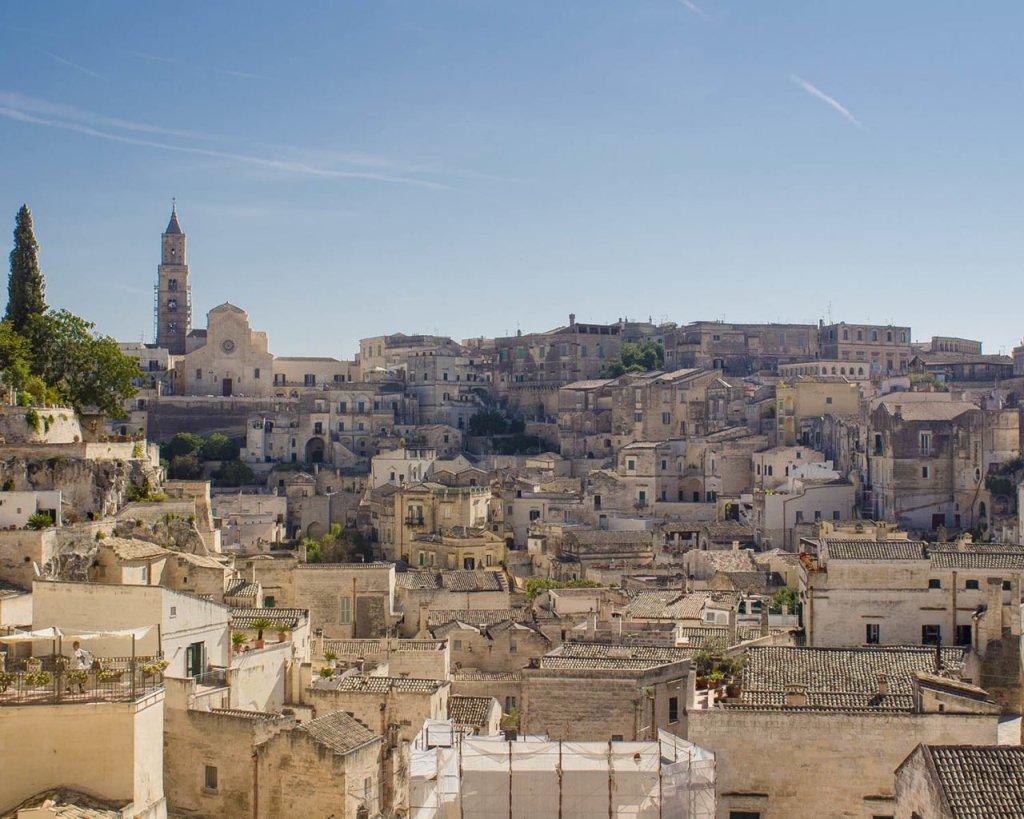 panoramica di Matera-Sasso barisano-Sasso caveoso-sassi di Matera-Matera-Campania-Italia