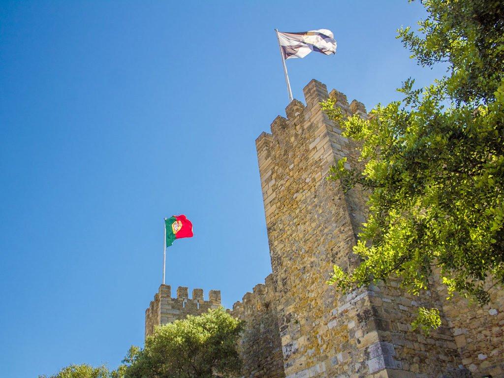torri castello di lisbona-Castelo de Sao Jorge-castello di San Giorgio-Lisbona-Lisbon-Portugal-Portogallo-Europa