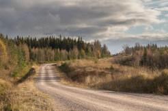 Öppen mark utmed vägen