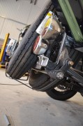 Double spare wheel support cradles