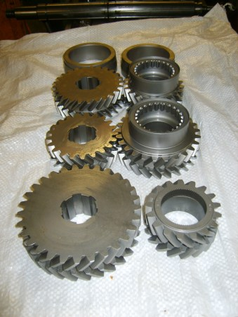 Double helical synchromesh gearsets in manufacture