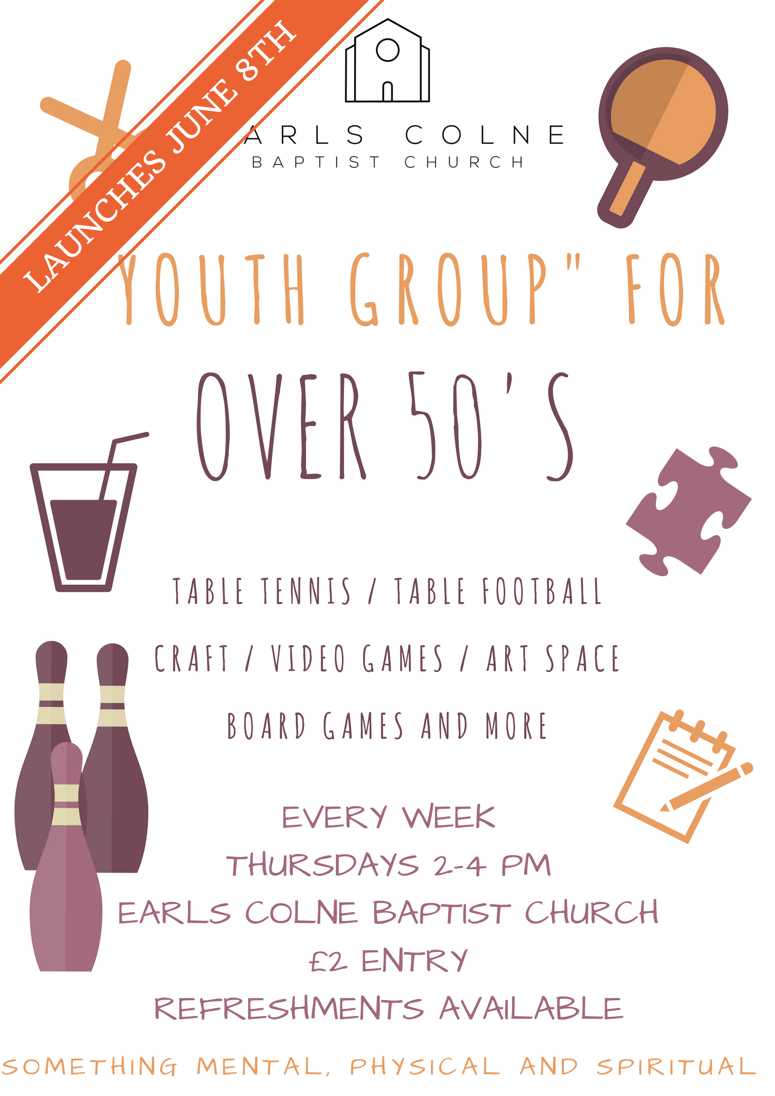 The 50+ Youth Group is launching!