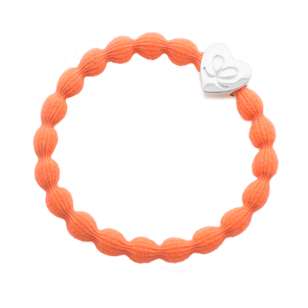 earlybirdfashion-Neon-Orange-Silver-Heart-byEloise