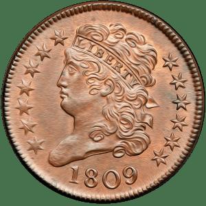 Half Cent 1809-1835 Classic Head