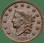 Large Cent 1816-1839 Matron Head