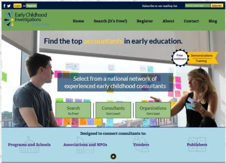 ECEexperts.com Early Childhood Investigations Consulting Directory Homepage