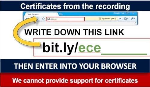 Certificates Early Childhood Webinars
