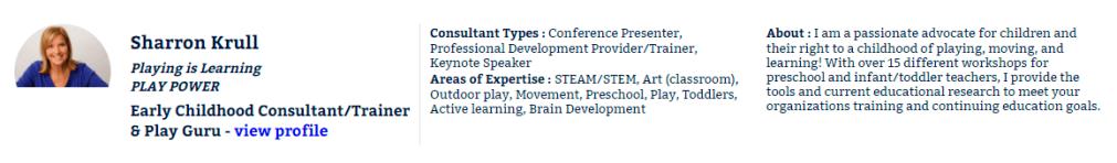 Sharon Krull, ECEexperts.com