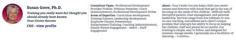 Susan Grove, ECEexperts.com