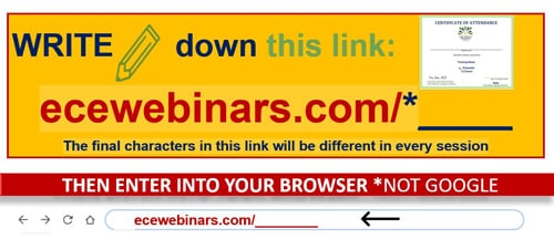 How to download certificates from recordings on early childhood investigations webinars