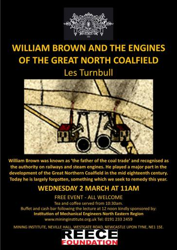 Lecture by Les Turnbull at the North of England Institution of Mining and Mechanical Engineers, supported by the Institution of Mechanical Engineers North Eastern Region