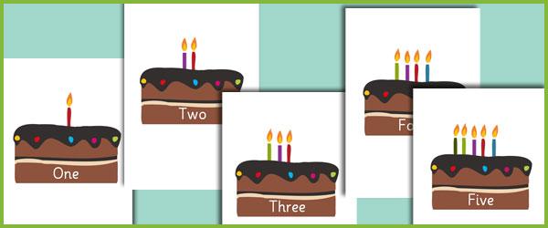 Editable Birthday Cake Numberline Free Early Years