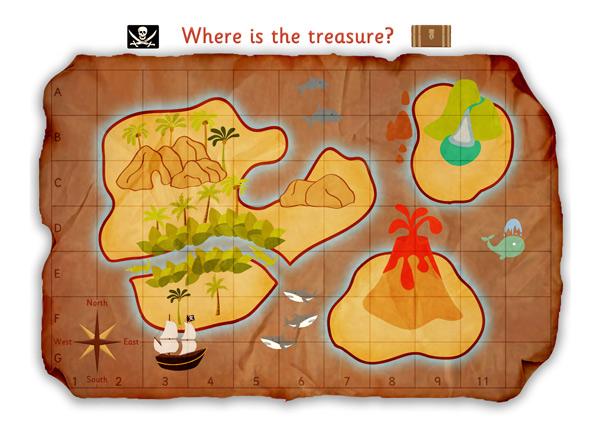 kalóz térkép gyerekeknek Kalóz játékszőnyeg és nyomtatható térkép – JanaAngol | Angol tanár