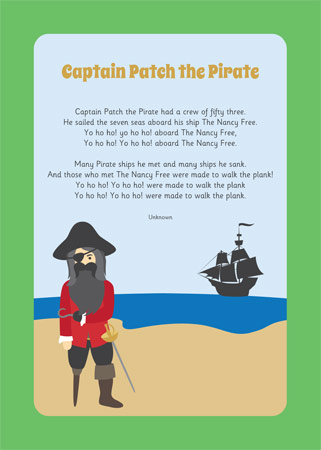 Captain Patch The Pirate Song Free Early Years Amp Primary