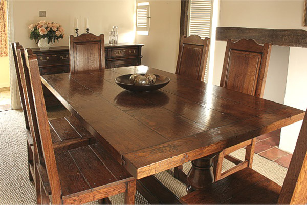 Oak Dining Table Amp Chairs In Period Suffolk Country Cottage