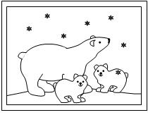 polar bear coloring pages preschool - photo#13