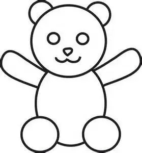 black and white teddy bear