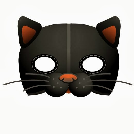 halloween mask to print out & 5 Printable Halloween cat masks to make u2013 early play templates