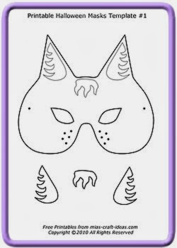 photograph relating to Cat Mask Printable known as 5 Printable Halloween cat masks in the direction of generate early engage in templates