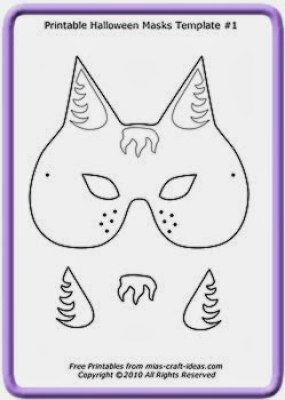 5 Printable Halloween cat masks to make – early play templates