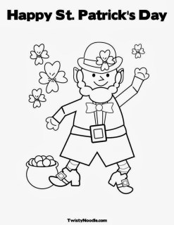 free St Patrick's Day coloring sheets