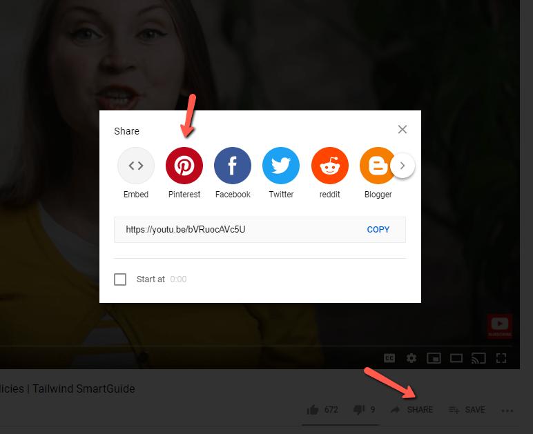 Pin YouTube video