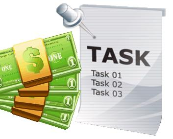 Work on tasks and earn money