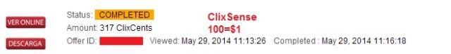clixsense cents proof