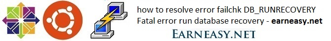 how-resolve-error-failchk-DB_RUNRECOVERY-Fatal-error-run-database-recovery