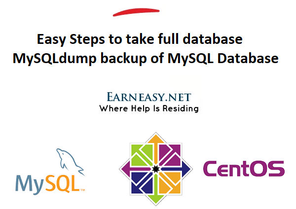 easy steps to take full database mysqldump backup of mysql database