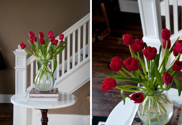 beginner blooms - tulip diptych