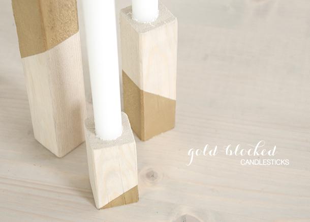 gold blocked candlesticks