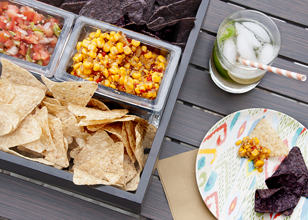outdoor cocktail party - dip tray