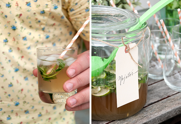 outdoor cocktail party - mojitos
