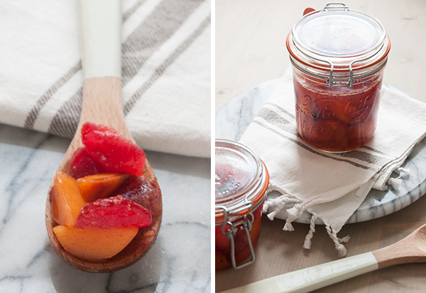fall spiced plums