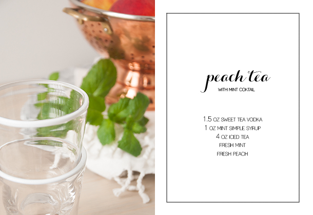 peach tea mint cocktail