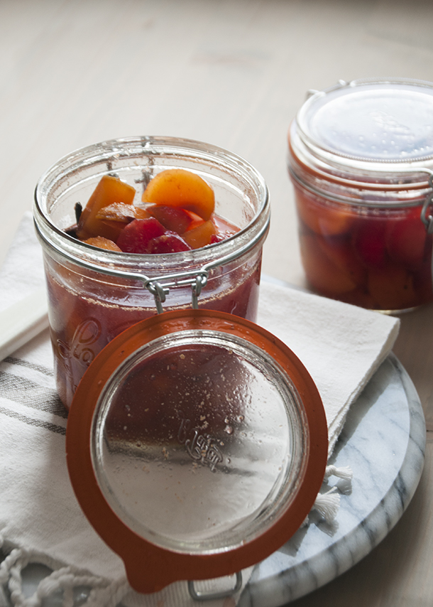 spiced plums for fall