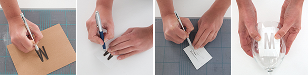 Monogrammed Barware tutorial