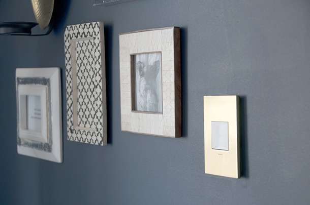 gallery wall with lightswitch