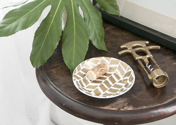 Gold Ikat Herringbone