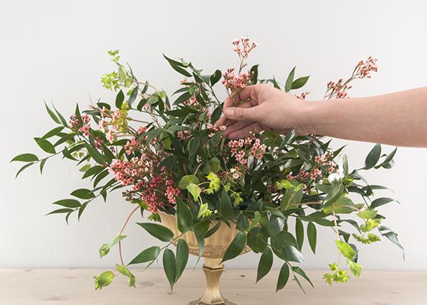 floral design filler placement