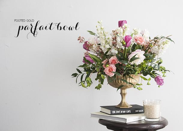 parfait dish footed vase