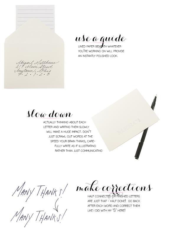 three steps to better handwriting