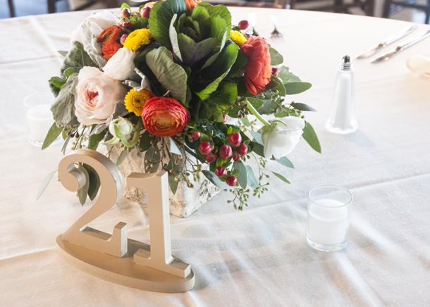 flowers fall wedding